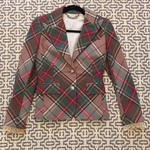 Juicy Couture Plaid Blazer